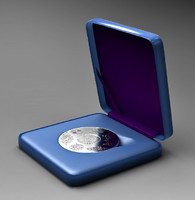 2008 lithuanian anniversary coin 3d obj