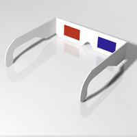 Retro 3D Glasses Cardboard Paper
