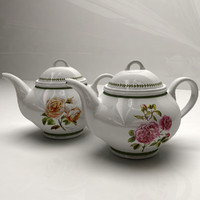 Teapot Roses Theme Set