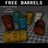 free barrels 3d model