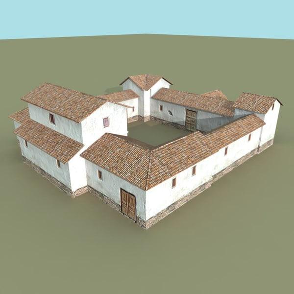 Roman villa 3d fbx for Villas 3d model