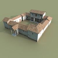 roman villa 3d fbx