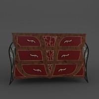 chest drawers secolo 3d max