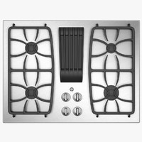 Gas Hob with Electric Grille