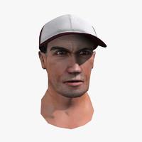human head 3d model