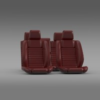car seats mustang shelby 3d model