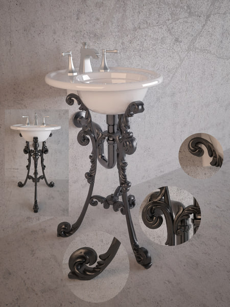 3d model classical kohler - washbasin Kohler... by klisan