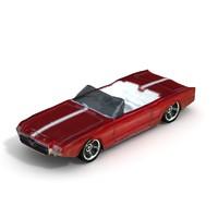3d model 1963 mustang ii convertible