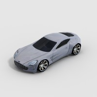 aston martin sports car 3d model