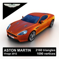 2012 aston martin virage 3d model