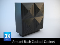 armani bach cocktail cabinet 3d model