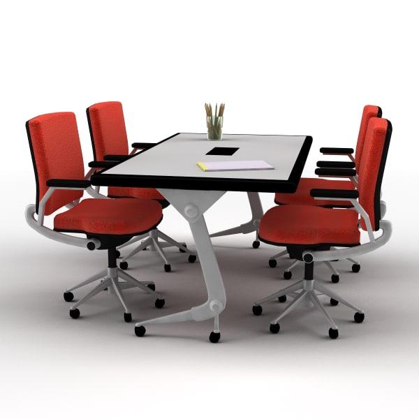 Modern classroom desk 3d model modern classroom