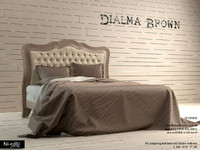 3d double bed dialma brown