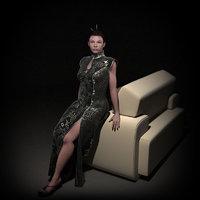 3d human rigged model