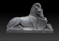 horse statue obj