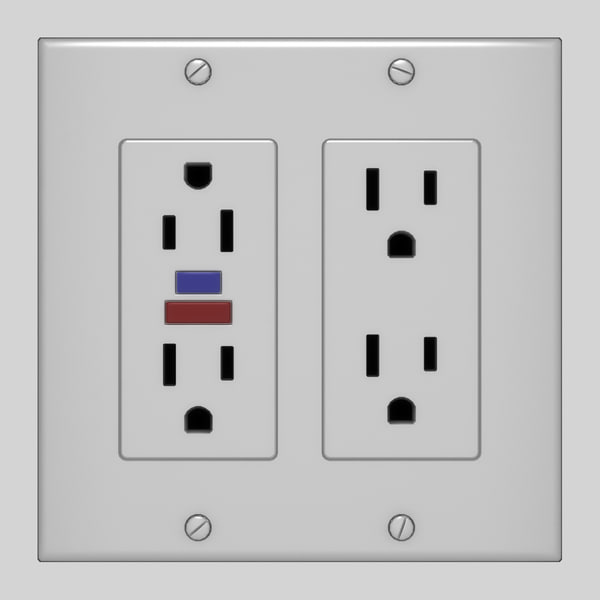 3d power outlet model