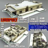 3d house interior building model
