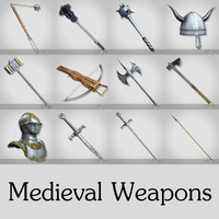 medieval weapons pack 3d max