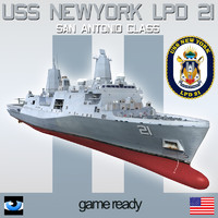 USS NEW YORK LPD 21 with OSPREY & LCAC