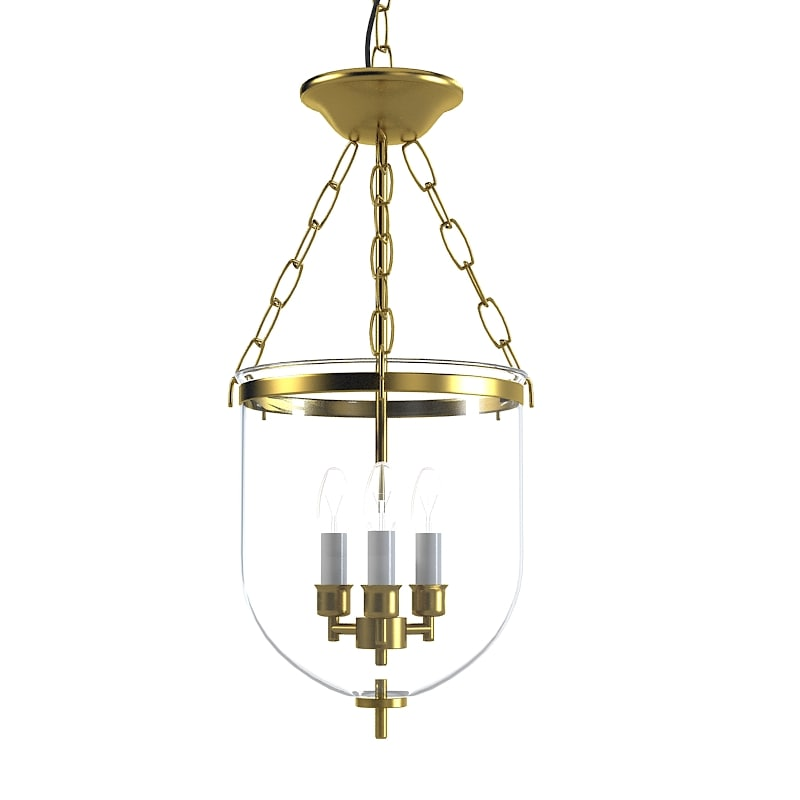 Pendant Lantern glass celining hall chandelier ceining suspension lamp classic candle 0001.jpg