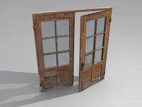 3d model of door open