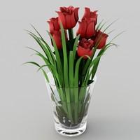 3ds max roses vase
