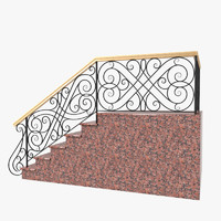 3ds max wrought iron stair railing