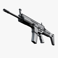 scar-l assault rifle 3d model