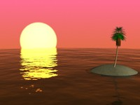 tropical sunset scene setting max free