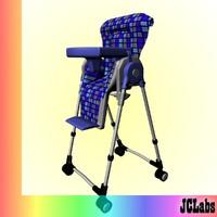 baby seat 3d model