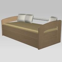 bunk bed-divan 3d max