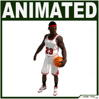 Black Basketball Player CG