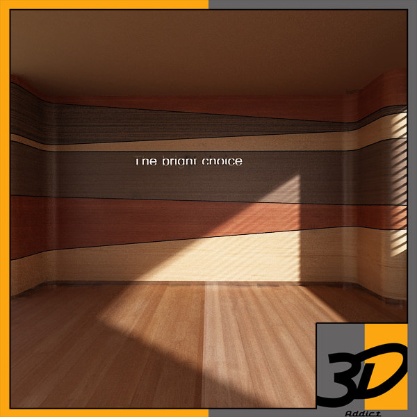 feature wall 3d model - feature wall... by 3d_addict