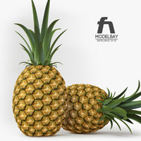 3d realistic pineapple fruit