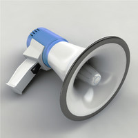megaphone mega phone 3d model
