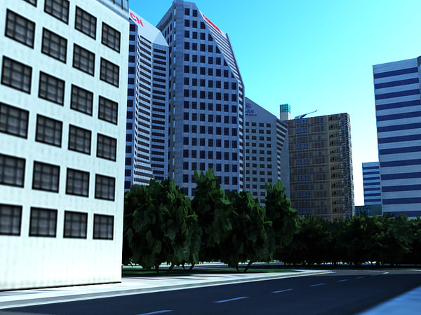 max city building - City buildings... by Skifius3d