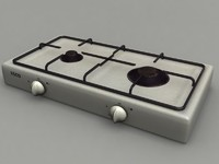3d burner gas cooker