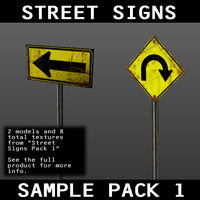 free 3ds mode sample pack street signs