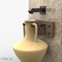 3d mendian amphora