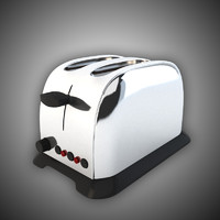 3d model toaster classic kitchen