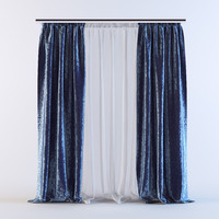3d curtains 03 model