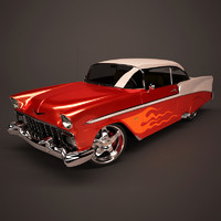 chevrolet bel air car 3d model