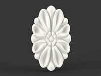 flower oval carved 3d max