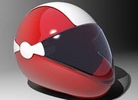 3d model motorcycle helmet