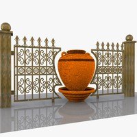 3d decorative wrought iron model