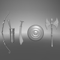 3d model armors shield