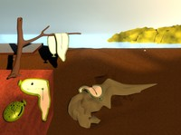 Dali's persistance in 3D