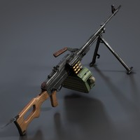 pkm machine gun 3d model