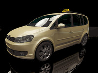 3ds max touran 2012 car taxi