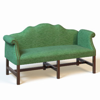 3d model of french sofa-bench